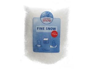 Umělý dekorační sníh, sypký, jemný, 100g, bílá