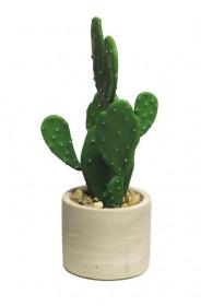 Umělý kaktus, v květináči, výška 25 cm