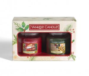 Vánoční dárková sada, Aromatické svíčky Yankee Candle 2 ks, doba hoření až 2 x 75 hod