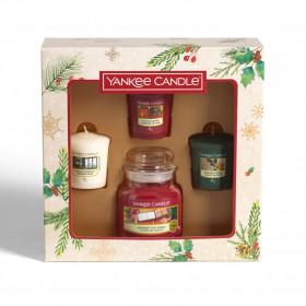 Vánoční dárková sada, Aromatické svíčky Yankee Candle 3 + 1 ks, Votivní + classic, hoření až 75 hod