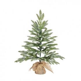 Vánoční stromek umělý v jutě, zasněžený, výška 60cm
