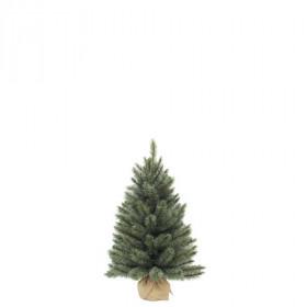 Vánoční stromek umělý v jutě, zelenomodrý, výška 45cm