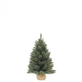 Vánoční stromek umělý v jutě, zelenomodrý, výška 60cm