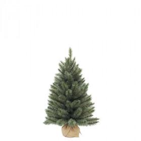 Vánoční stromek umělý v jutě, zelenomodrý, výška 90cm