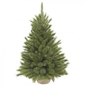Vánoční stromek umělý v jutě, zelený, výška 90cm
