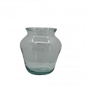 Váza BELLE, sklo, průměr 19cm, výška 19cm, čirá