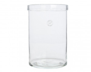 Váza GOTEBORG, sklo, válec, dvojitý lem, průměr 19.5cm, výška 29cm, čirá