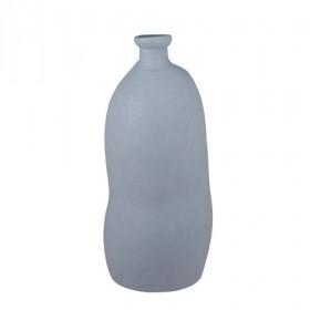 Váza ORGANIC,sklo,  atyp, průměr 3cm, výška 73cm, šedá