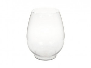Váza SADUROS, sklo, průměr 12.7cm, čirá