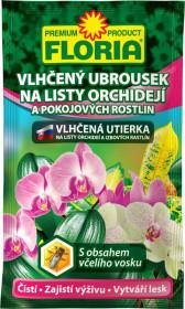 Vlhčený ubrousek na listy ORCHIDEJÍ a pokojových rostlin, Floria, balení 1 ks