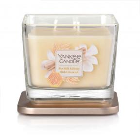 Yankee Candle svíčka Elevation střední Rice Milk & Honey