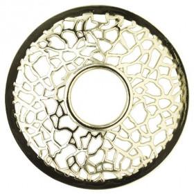 YANKEE prstenec na svíčku Matrix Brushed Silver