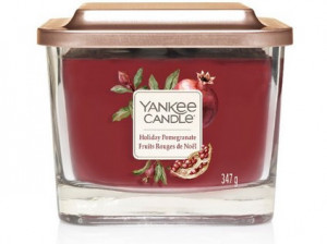 YANKEE sklo2 Elevation Holiday Pomegranate