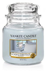 YANKEE svíčka sklo2 A Calm & Quiet Place