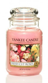 YANKEE svíčka sklo3 Fresh Cut Roses