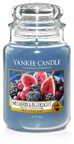 YANKEE svíčka sklo3 Mulberry & Fig Delight