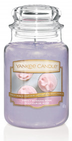 YANKEE svíčka sklo3 Sweet Morning Rose