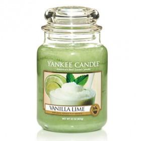 YANKEE svíčka sklo3 Vanilla Lime