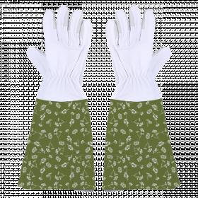 Zahradní rukavice Esschert Design, dámské, velikost M, bílo - zelené