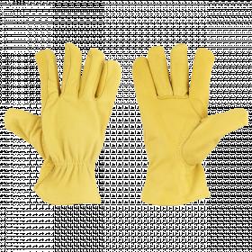 Zahradní rukavice Esschert Design, UNISEX, kožené, velikost L, žluté