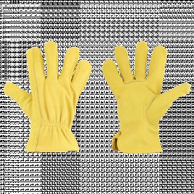 Zahradní rukavice Esschert Design, UNISEX, kožené, velikost M, žluté