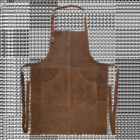 Zástěra na grilování Esschert Design BBQ, velikost UNI, kožená, hnědá