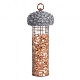 Závěsné kovové krmítko pro ptáky, Esschert Design Žalud, hnědé