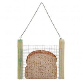 Závěsné krmítko na chléb, Esschert Design, dřevo a kov, zelené