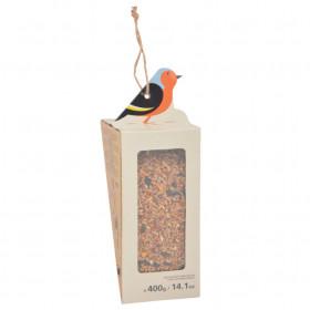 Závěsné krmítko pro ptáky se směsí semínek, Esschert Design, 400 g