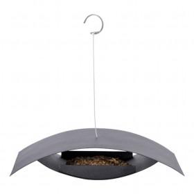 Závěsné ocelové krmítko, Esschert Design MODERN, černé