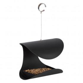 Závěsné ocelové krmítko, Esschert Design OPEN, černé
